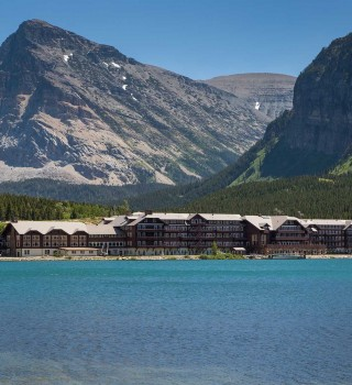 Glacier National Park Many Glacier Hotel Lakeside