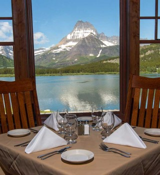Glacier National Park Ptarmigan Window Table
