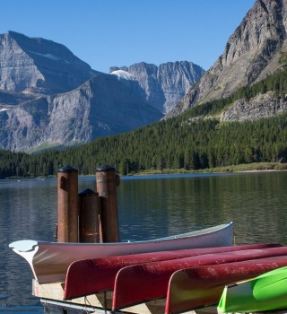 Many Glacier Hotel Lake Canoes