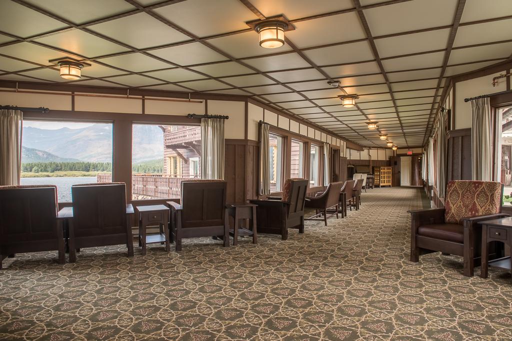 Many Glacier Hotel Breezeway