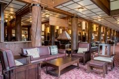 Many Glacier Hotel Lobby Concierge Desk Background