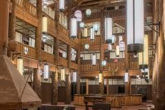 Many Glacier Hotel Lobby Lighting Vertical