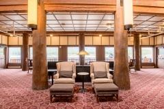 Many Glacier Hotel Lobby Overlooking Lake