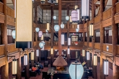 Many Glacier Hotel Lobby from Upper Floor