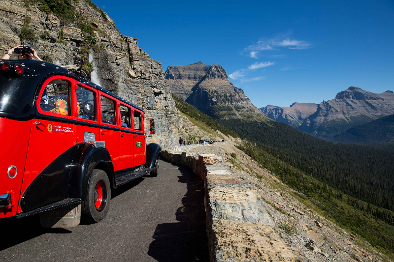 glacier np red bus 6