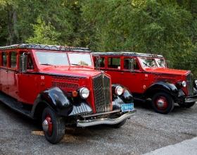 glacier np red bus 4